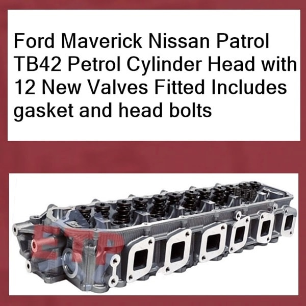 Ford-Maverick-Nissan-Patrol-TB42-Petrol-Cylinder-Head-with-valves-fitted