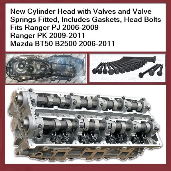 Ford Ranger PJ PK WEAT Cylinder Head Complete with Camshafts