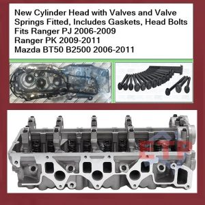 Ford Ranger PJ PK WEAT Cylinder Head with Valves Fitted and Gaskets