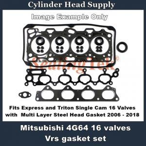 Mitsubishi Express and Triton Single Cam 16 Valves Vrs gasket set 2006 - 2018