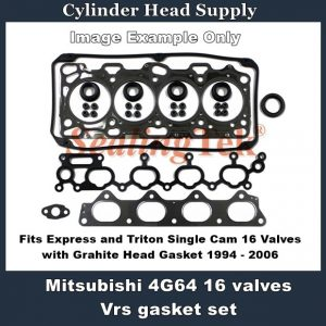 Mitsubishi Express and Triton Single Cam 16 Valves Vrs gasket set