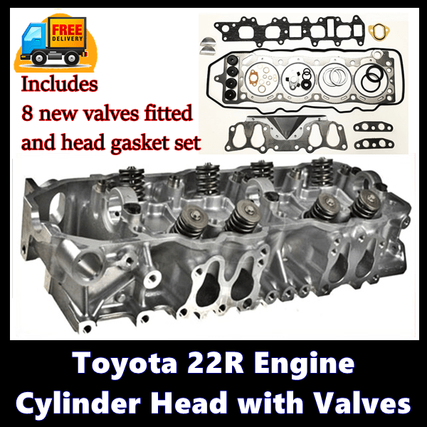 Toyota 22R Engine Cylinder Head with Valves