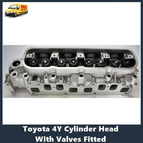 Toyota 4Y Cylinder Head With Valves Fitted