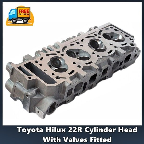 Toyota 22R Cylinder Head With Valves Fitted and Gasket Set 1