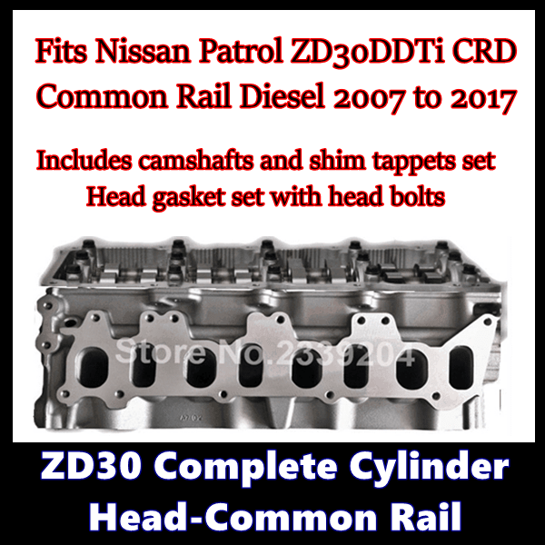 ZD30 Complete Cylinder Head Common Rail