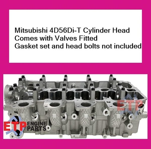 Mitsubishi 4D56Di-T Cylinder Head with Valves Fitted