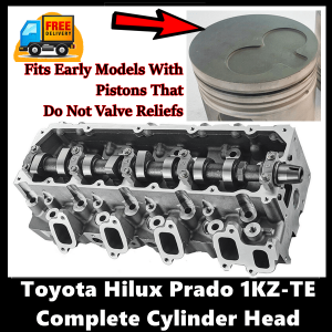 Toyota Hilux Prado Surf 1KZ-TE Complete Cylinder Head with Gasket Set with Head Bolts Early-