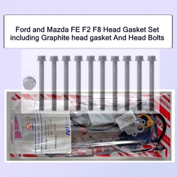 Ford and Mazda FE F2 F8 Head Gasket Set including Graphite head gasket And Head Bolts Set