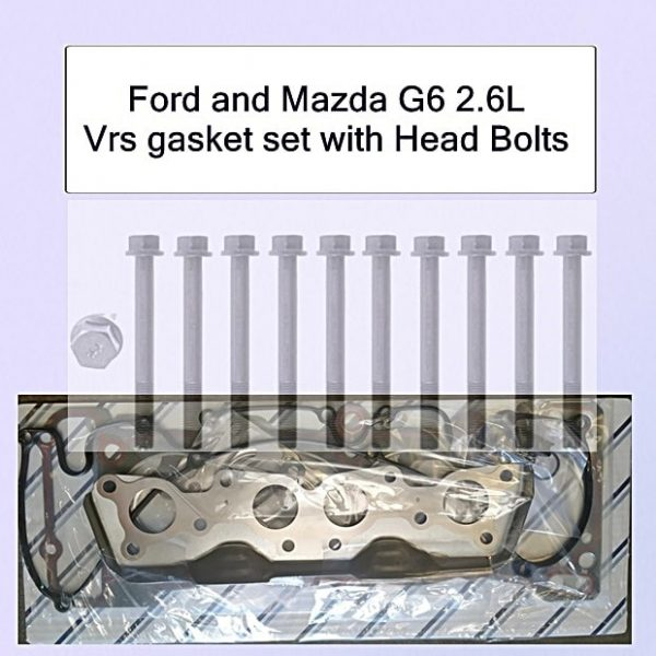 Ford and Mazda G6 2.6l Vrs gasket set with Head Bolts