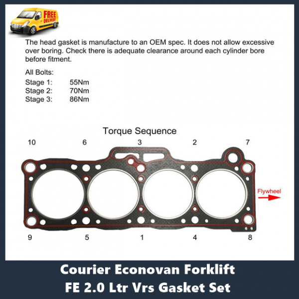 Ford Mazda FE Head Gasket Set + Head Bolt Kit