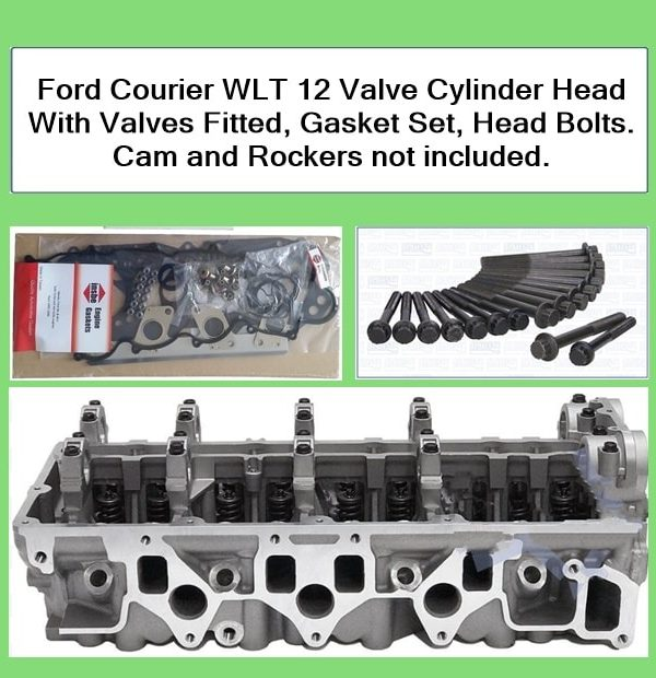 Ford Courier Cylinder Head With Valves Fitted