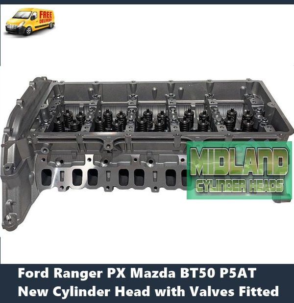 Ford Ranger PX P5AT New Cylinder Head with Valves Fitted
