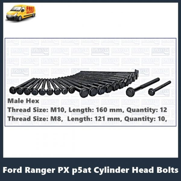 Ford Ranger PX Cylinder Head Bolt Kit P5AT
