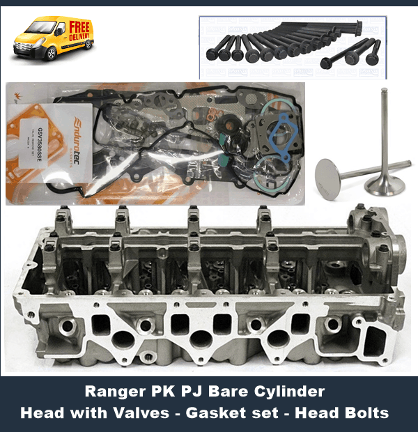 Ford Ranger PJ PK Cylinder Head inc Gasket Set Head Bolts