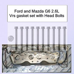 Ford Mazda G6 2.6 12v Vrs Gasket Set+Head Bolts