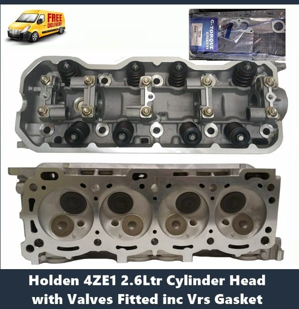 Holden 4ZE1 2.6Ltr Cylinder Head with Valves Fitted