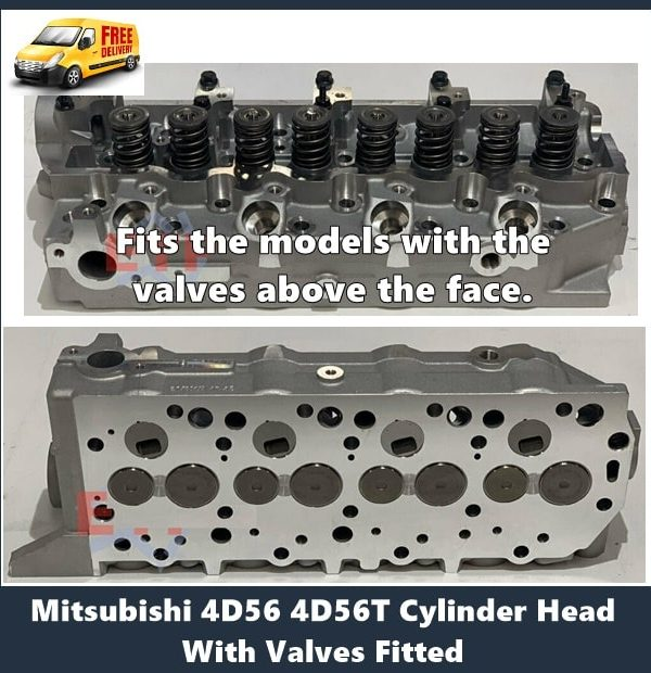 Mitsubishi 4D56T Cylinder Head with Valves Fitted