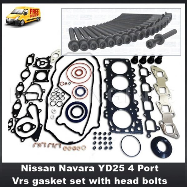 Nissan YD25 VRS Gasket Set Head Bolts 2003 on