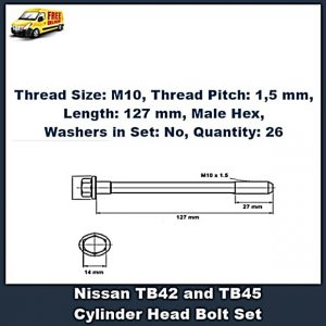 Ford Nissan TB42 TB45 Cylinder Head Bolts
