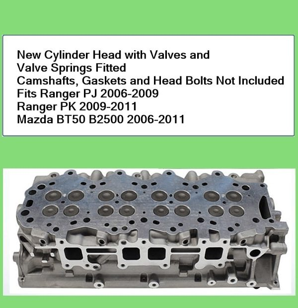 Ford Ranger PJ PK Cylinder Head with Valves
