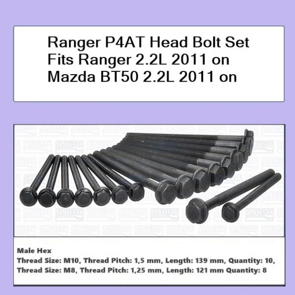 Ford Ranger PX P4AT Cylinder Head Bolt Kit