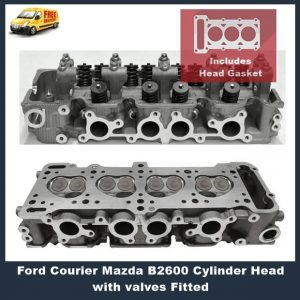 Ford Courier Mazda B2600 Cylinder Head with valves Fitted