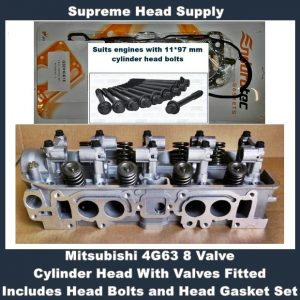 Mitsubishi 4G63 8 Valve Cylinder Head With Valves Fitted