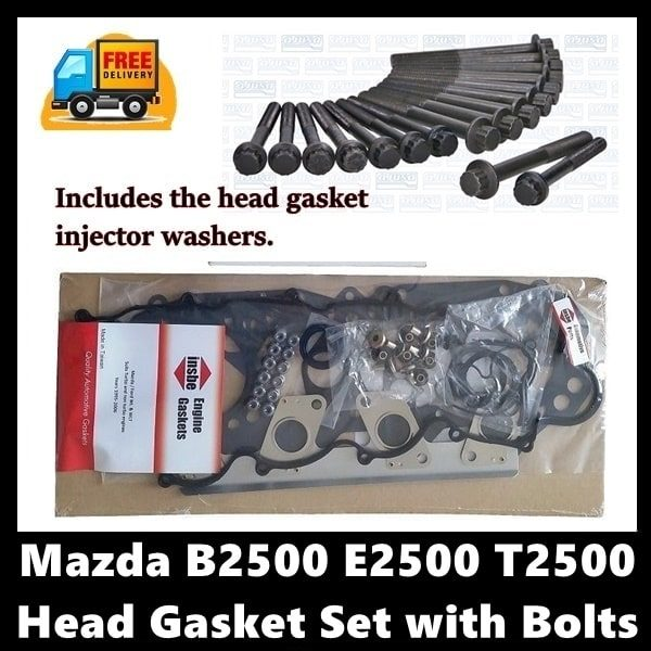 Mazda B2500 E2500 T2500 Head Gasket Set with Bolts