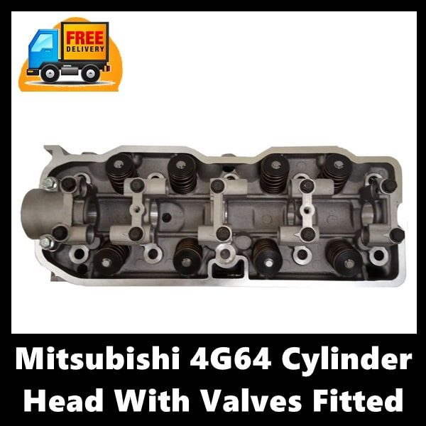 Mitsubishi 4G64 Cylinder Head With Valves Fitted